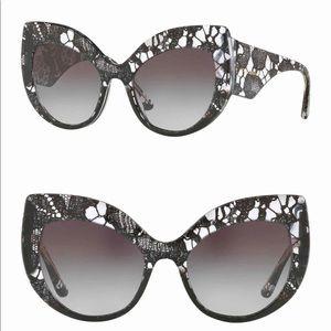 Dolce & Gabbana 55mm Lace Cat Eye Sunglasses